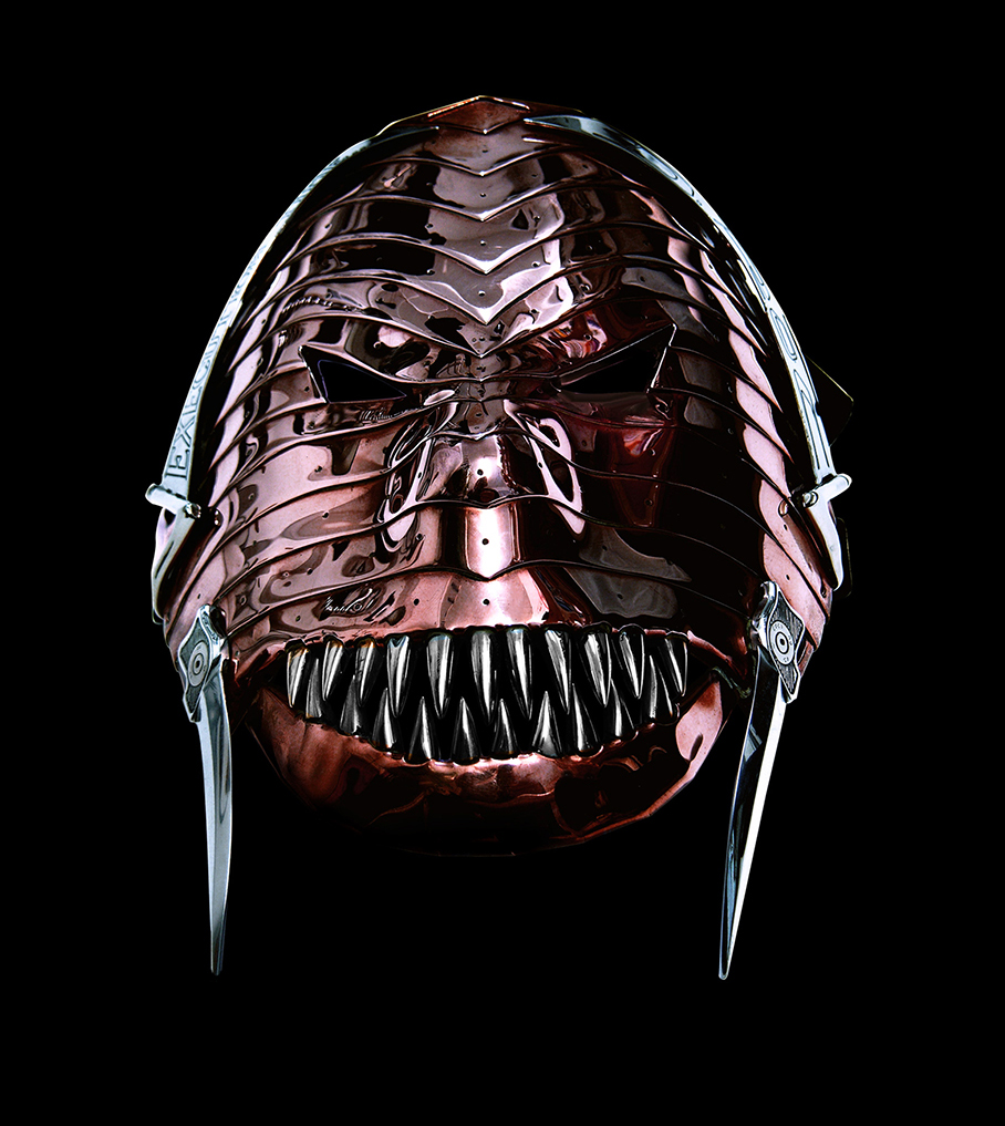MASK DESIGNED AND CREATED BY LEE J ROWLAND