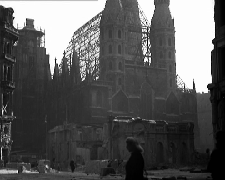 Bombed out Vienna cathedral, 1948.