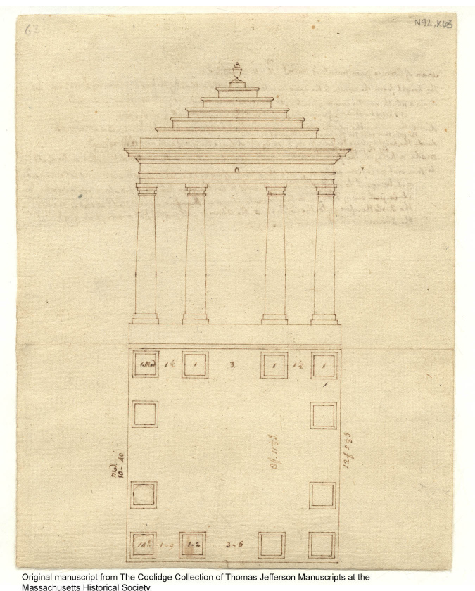 Copy of Jefferson's drawing found  here .