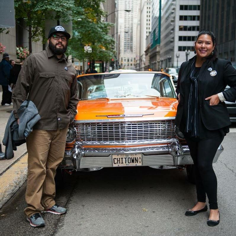 Peter Kepha and Lauren Pacheco, co-founders of  Slow&Low: Chicago Lowrider Festival