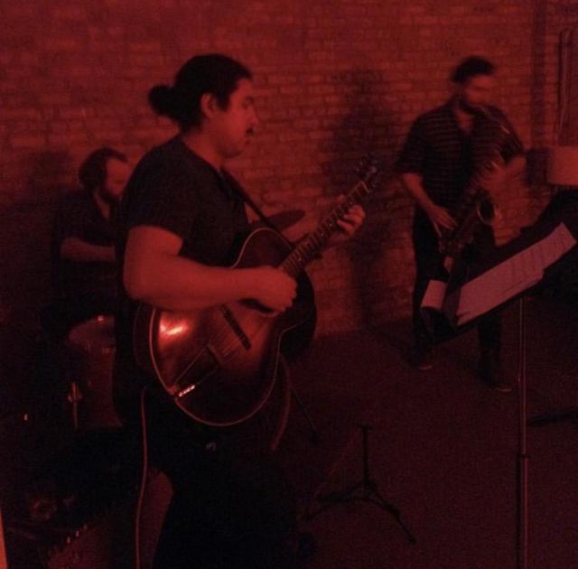 Ishmael Ali practicing in the West Logan Square studio