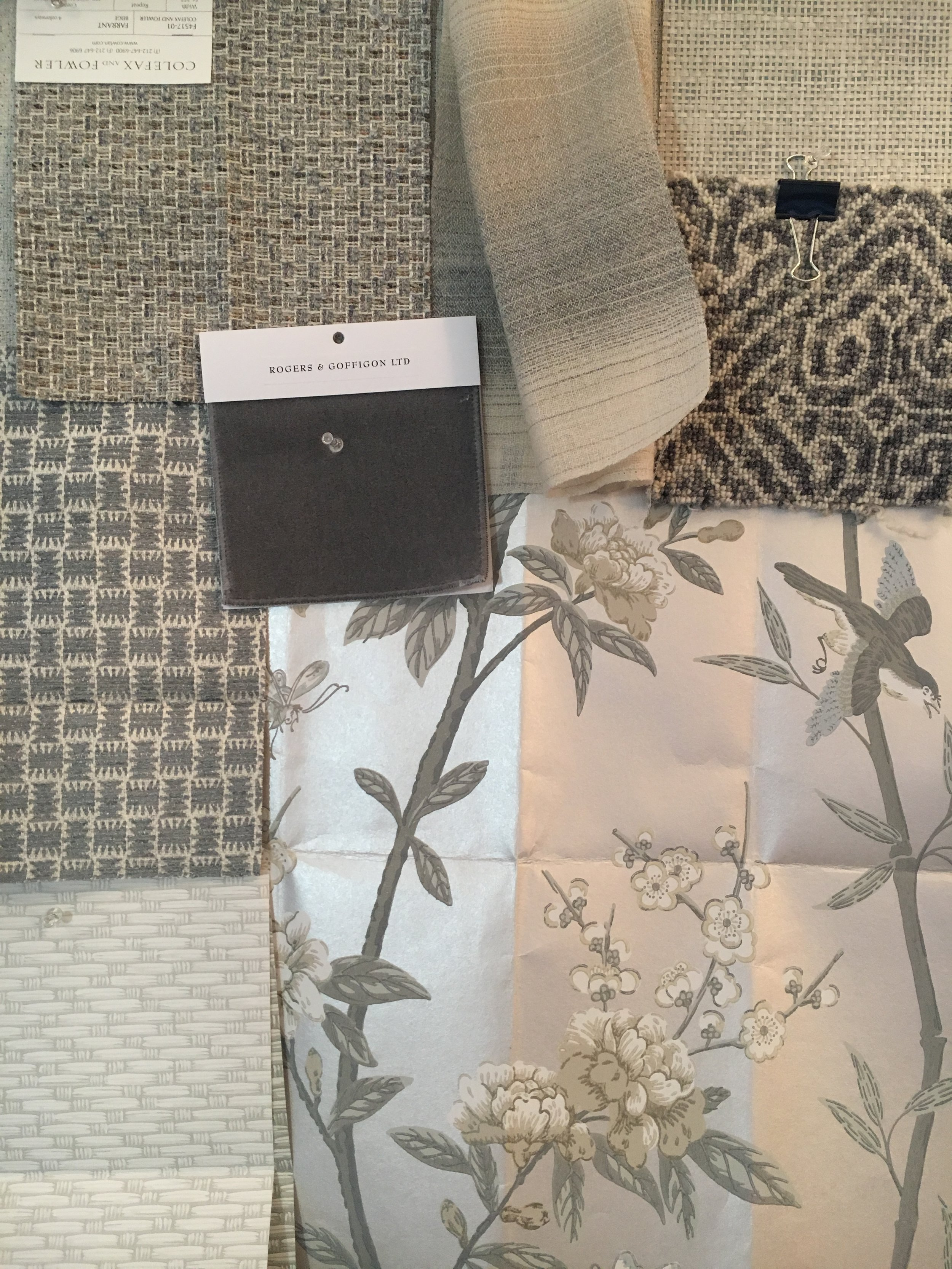 The start of my Master Suite scheme... We are BEYOND excited to see this design come to life over the next few months!