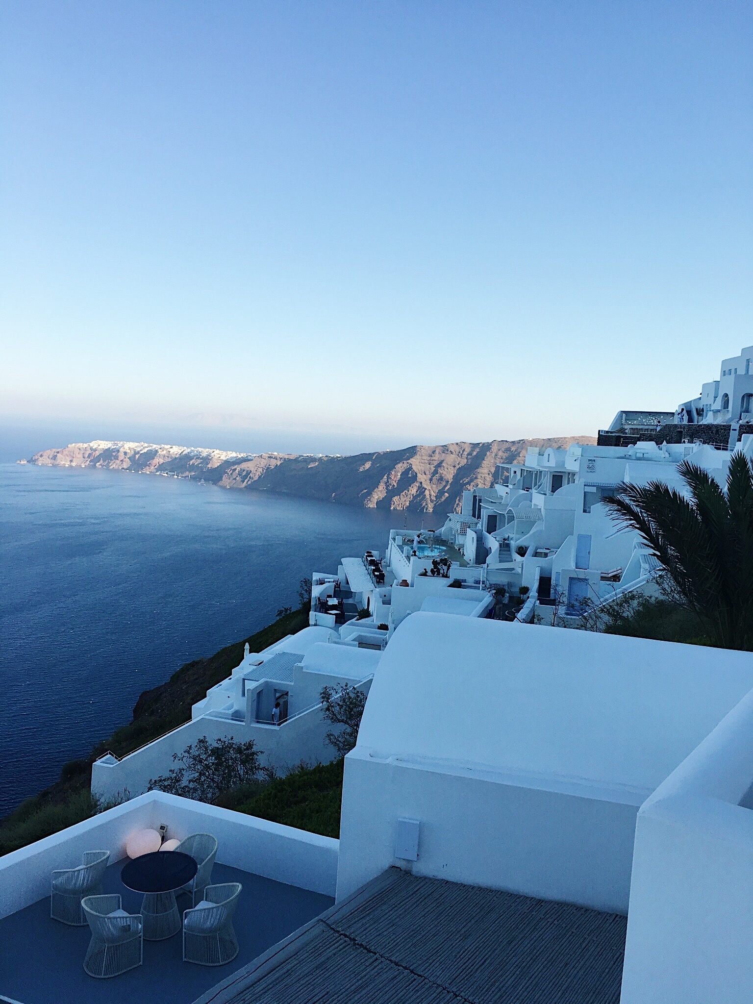 Early morning yoga while visiting Greece with Doug - An incredible experience!