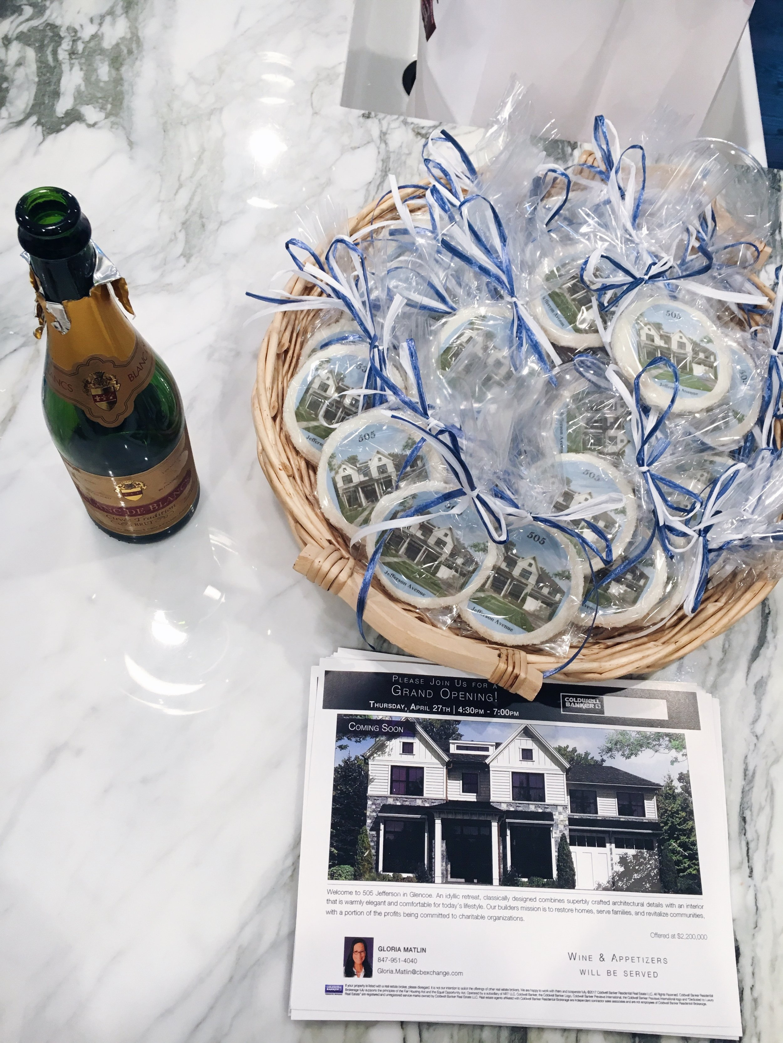 The celebration of a completed New Construction home.Cheers!