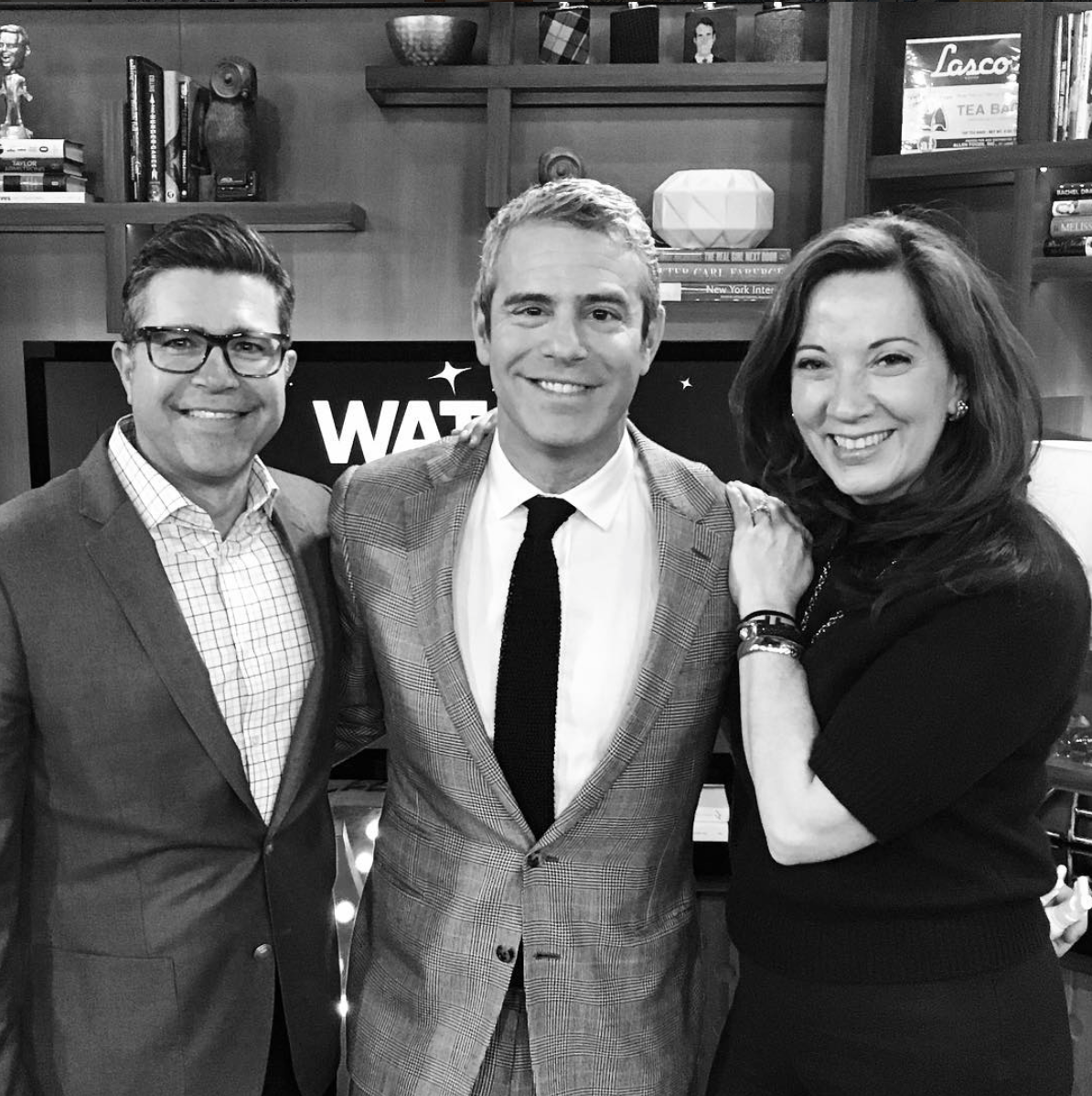 Meeting Andy Cohen at the Watch What Happens Live studio in NYC with Doug - Could I look any more excited?!