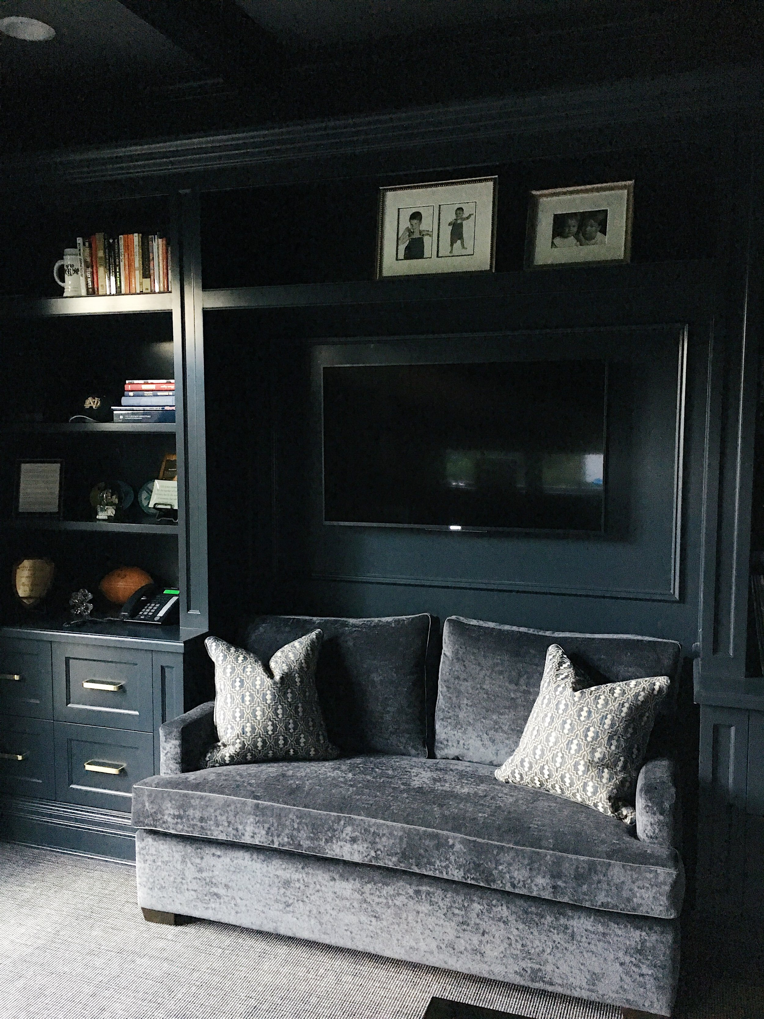 We love the way this masculine office turned out -More photos to follow soon!