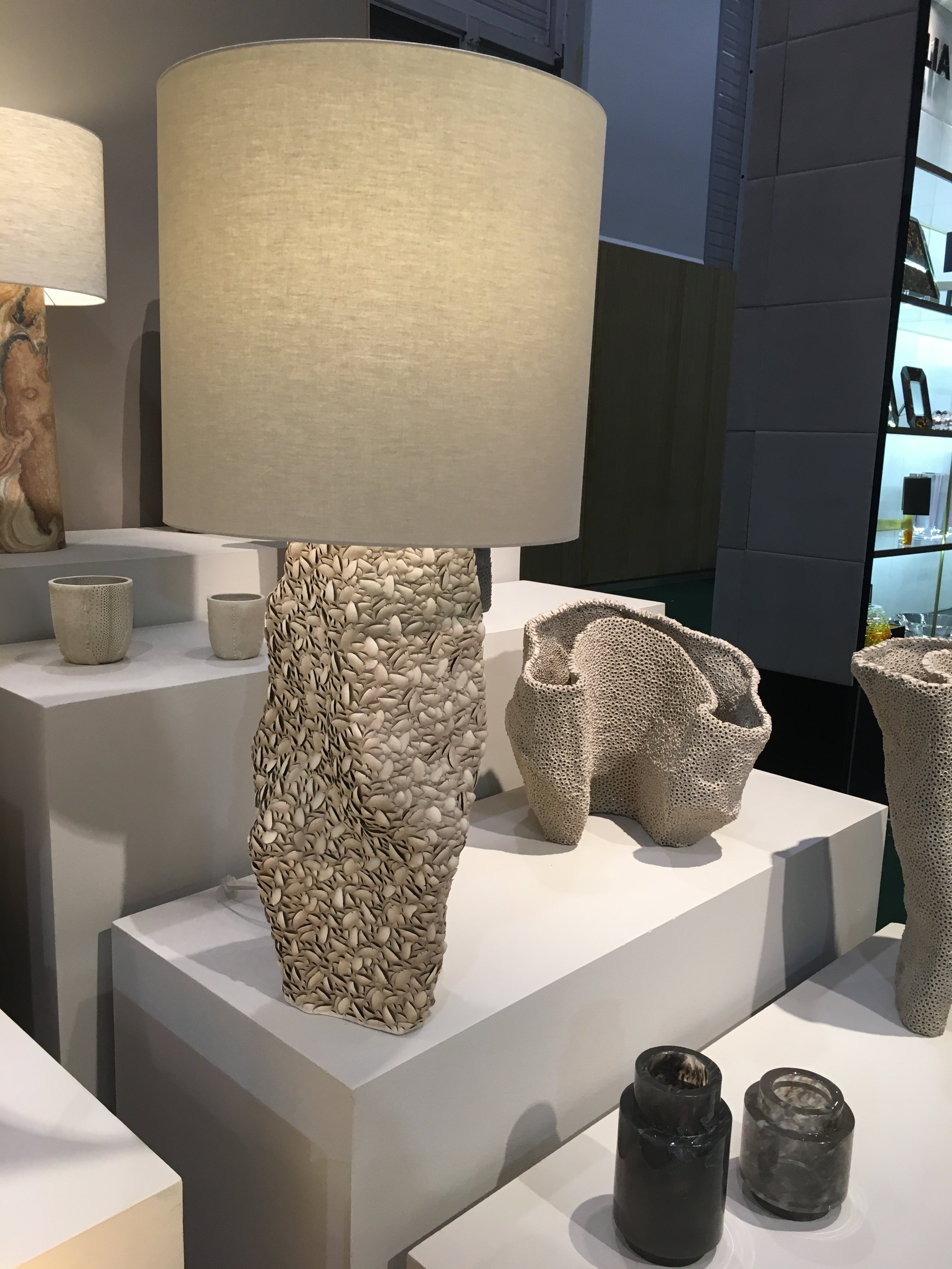 Maison et Objet: This artist's work took my breath away - Each individual item was hand moulded and made out of natural resources.