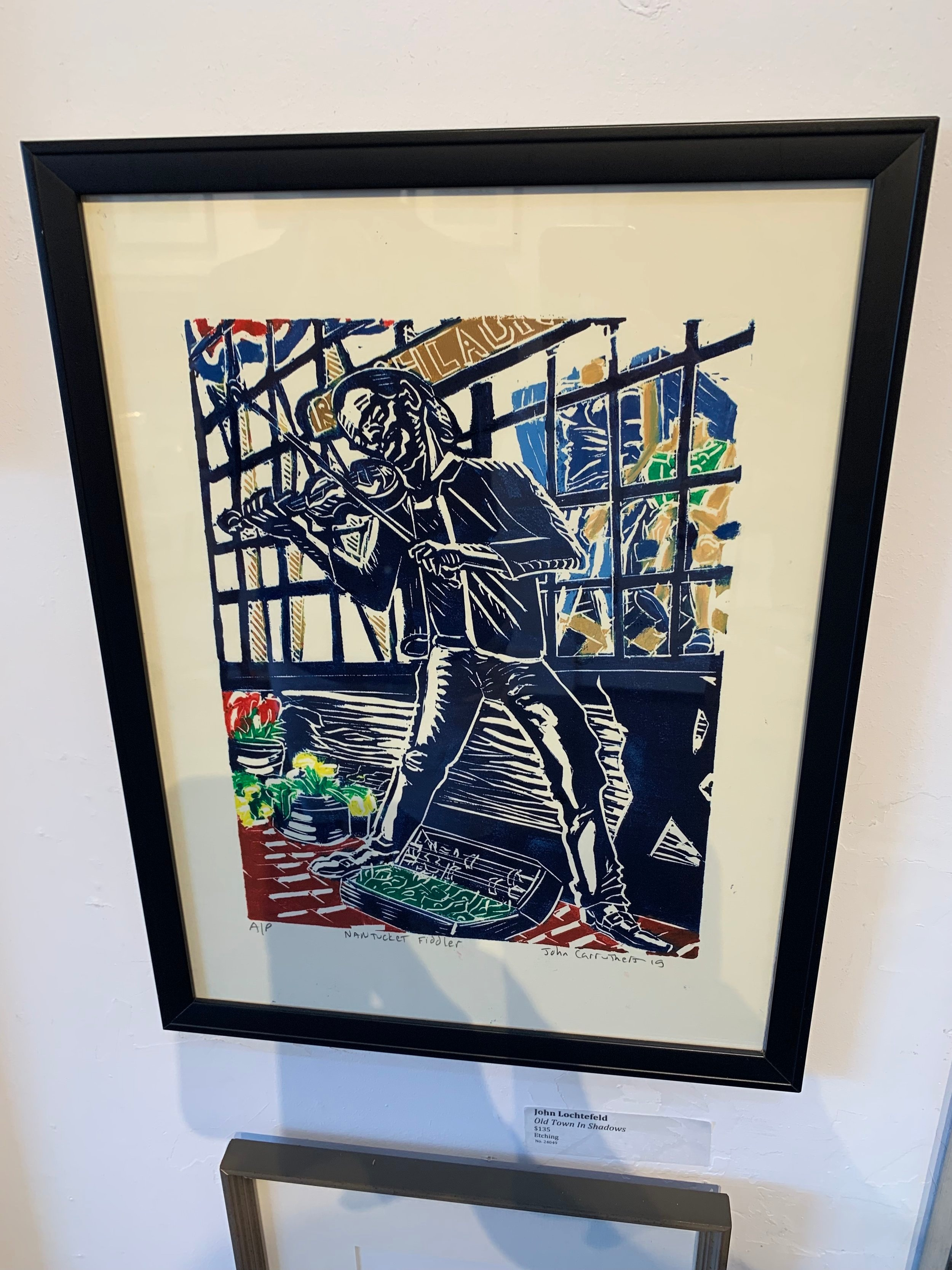 {Our latest piece from the artists association of Nantucket - a unique woodblock print }