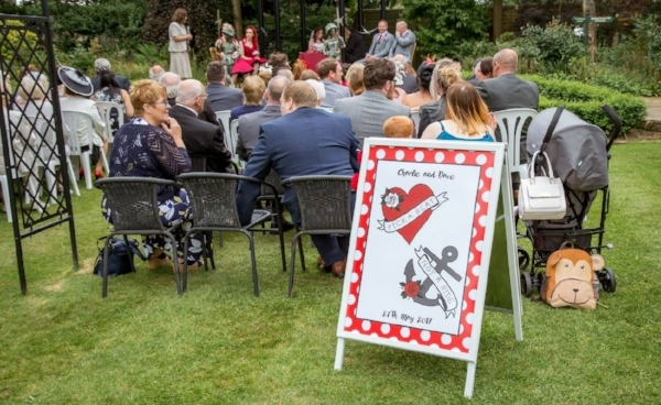 Ceremony pick a seat not a side sign
