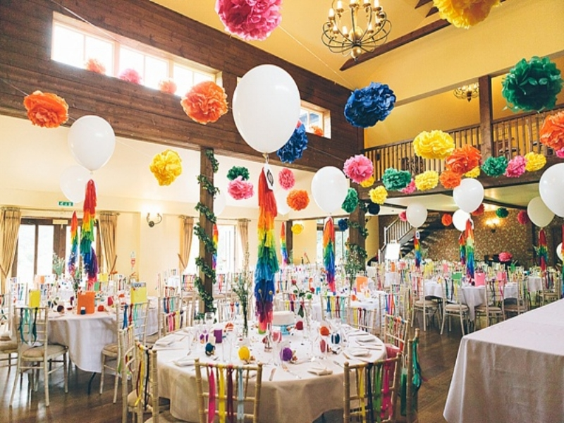 Rainbow wedding decorations