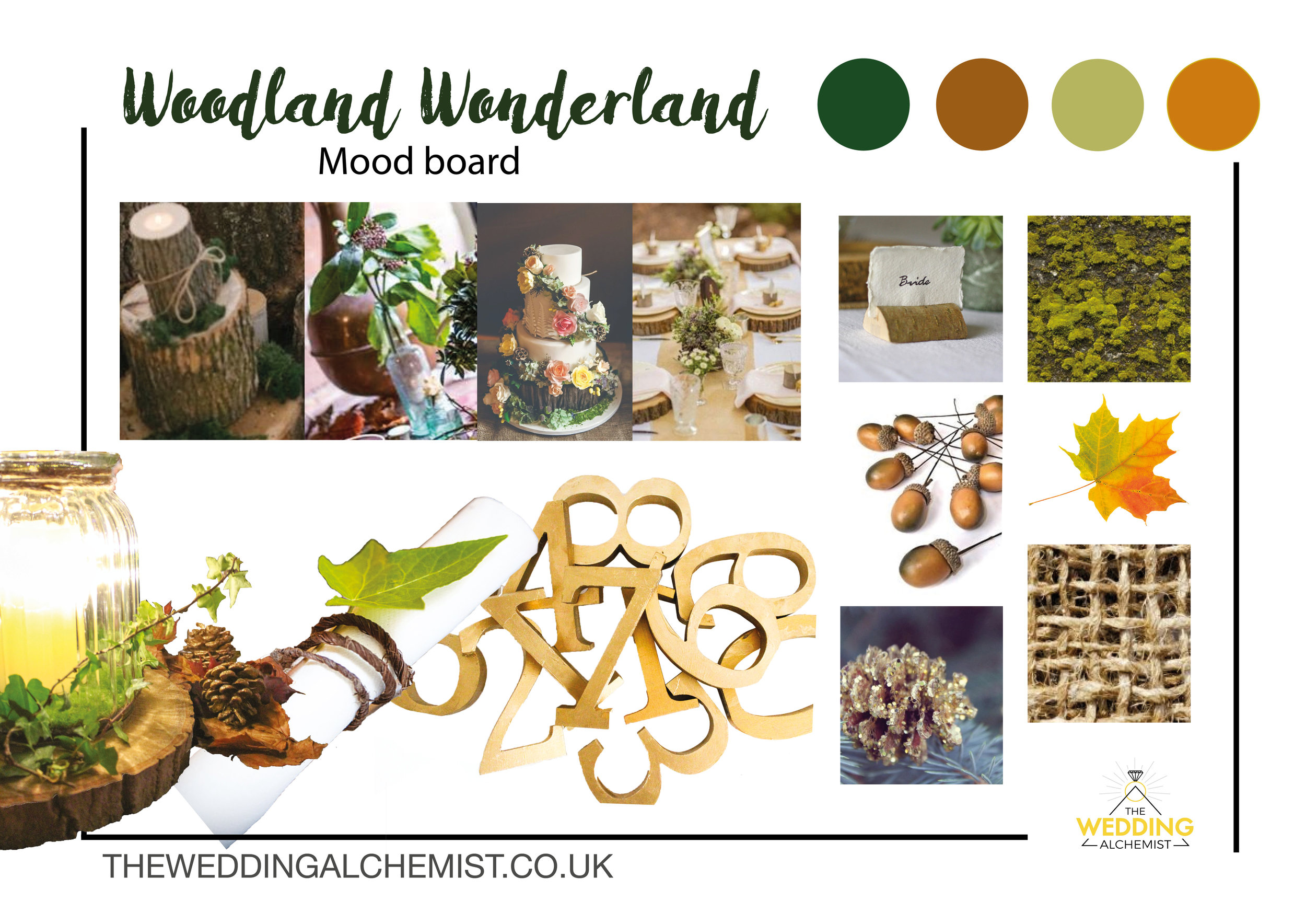 Woodland Weddings - Bring the nature into to your Wedding venue.