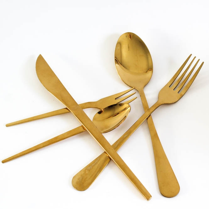 Gold Cutlery - A detail often overlooked, but can really add a luxe touch to your tables. Either black, bronze or gold would look great in this scheme, from traditional to more contemporary shapes, to frame each place setting.
