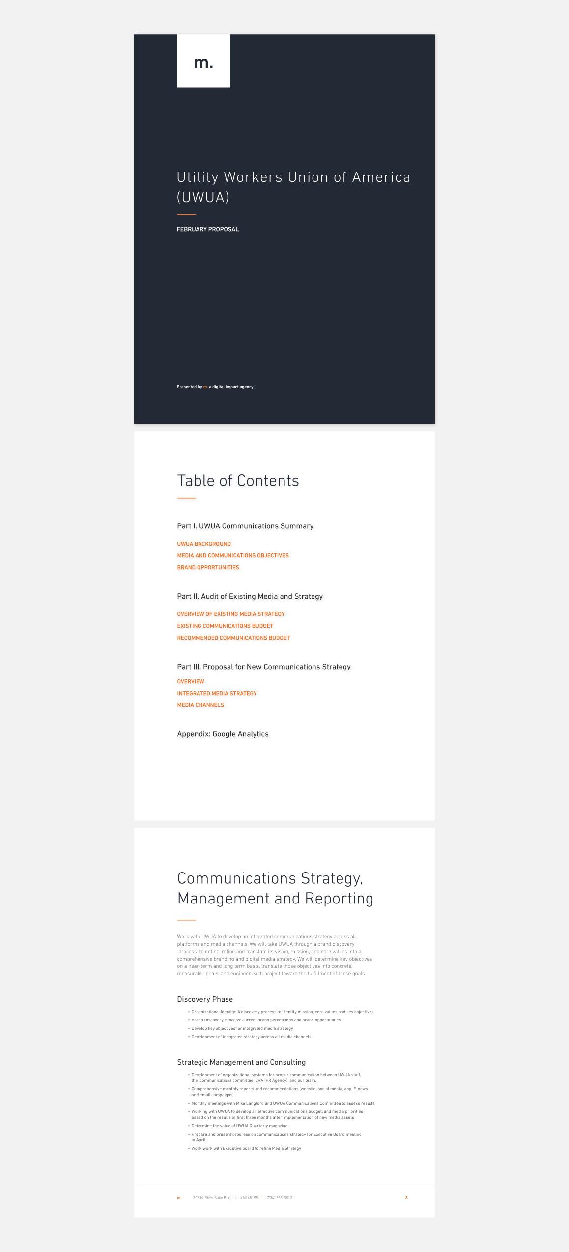 Client Proposal Design