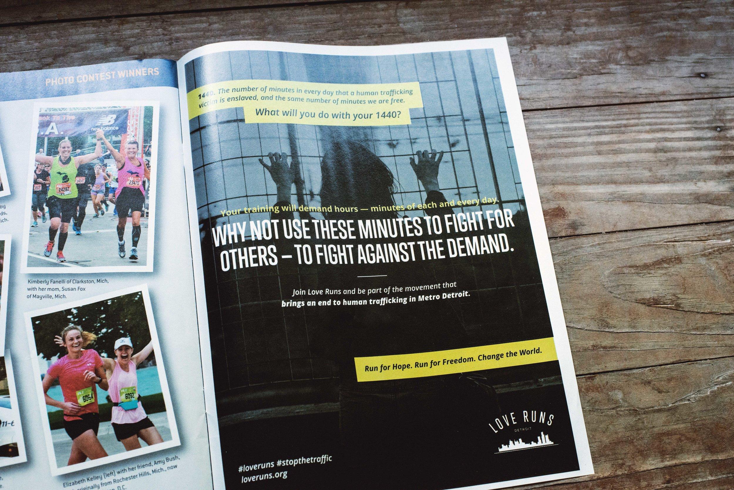 Detroit Free Press Marathon 2017 Magazine Ad