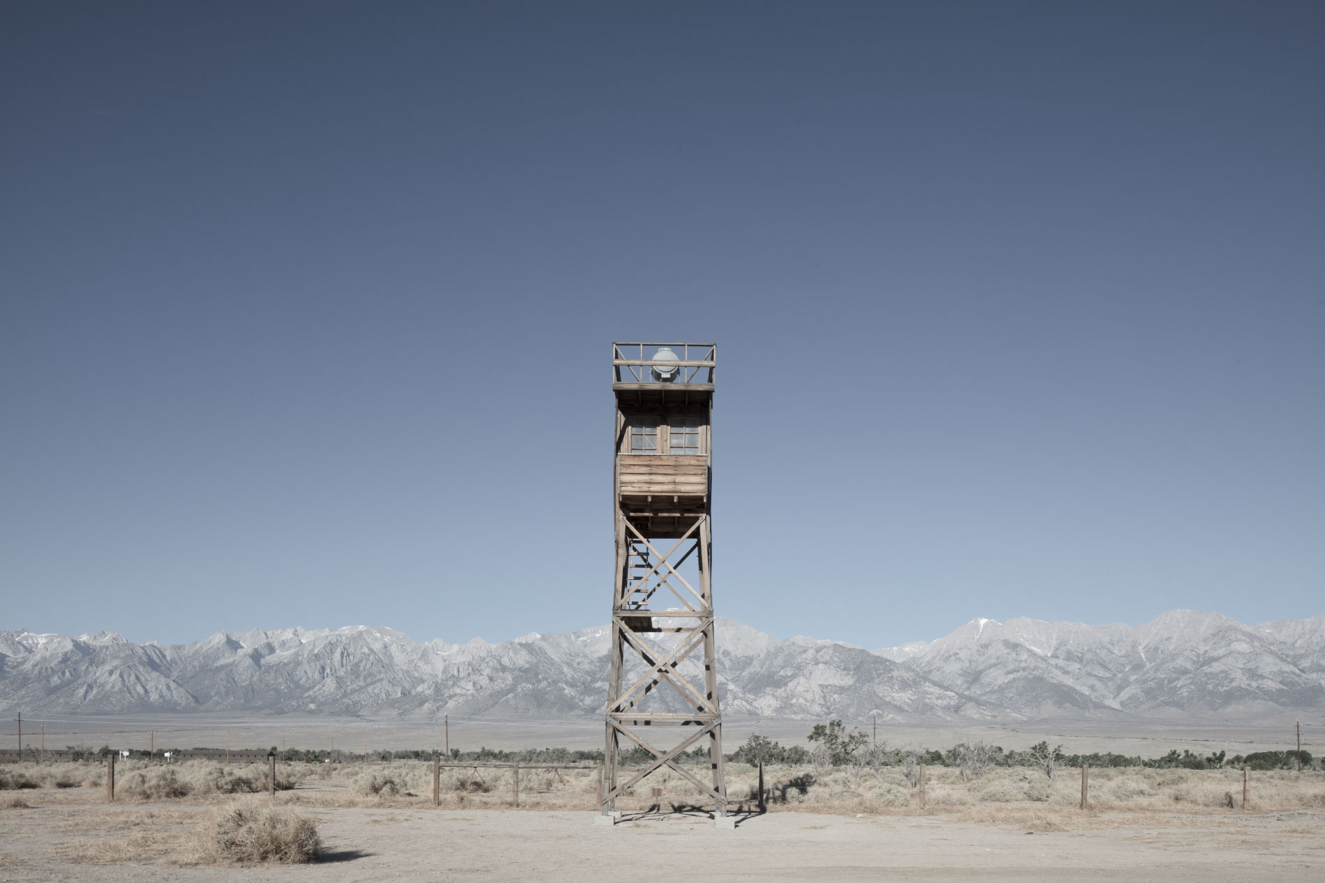Title:      The gun pointing at us      (Manzanar, California)