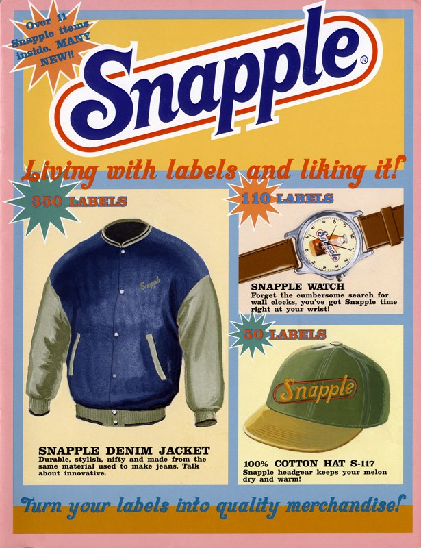 In keeping with the tongue-in cheek tone of the third (and sadly, final) Wendy The Snapple LadyTV campaign, we created this kitschy catalogue to give fans what they really wanted: Snapple merchin exchange for the labels they were already collecting. Seriously. Everyone collected labels. Before they even knew they could get stuff for 'em!  BONUS: We employed 'Scratch 'n Sniff' technology in this piece! Hollah!  Agency:Kirshenbaum  Art Director:Libby Brockhoff  Illustrator:Bruce McCall