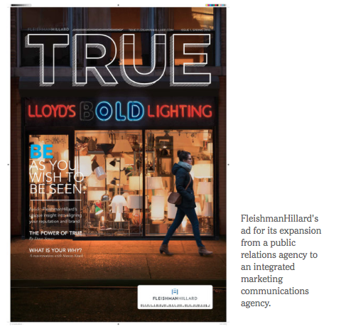 When this project went live/was published Fleishman Hilliard settled on the name  True .