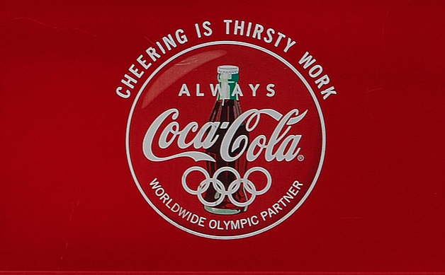 """I was asked to work with  Joanna Feldheim  on Coca Cola at the Summer Olympics (dream come true!) and came up with the line """"Cheering Is Thirsty Work"""" which was used in TV, print, flags, even drinking cups. That line later became """"Delivering Is Thirsty Work"""" for Coca Cola's holiday effort and at the World Of Coca Cola in Atlanta."""