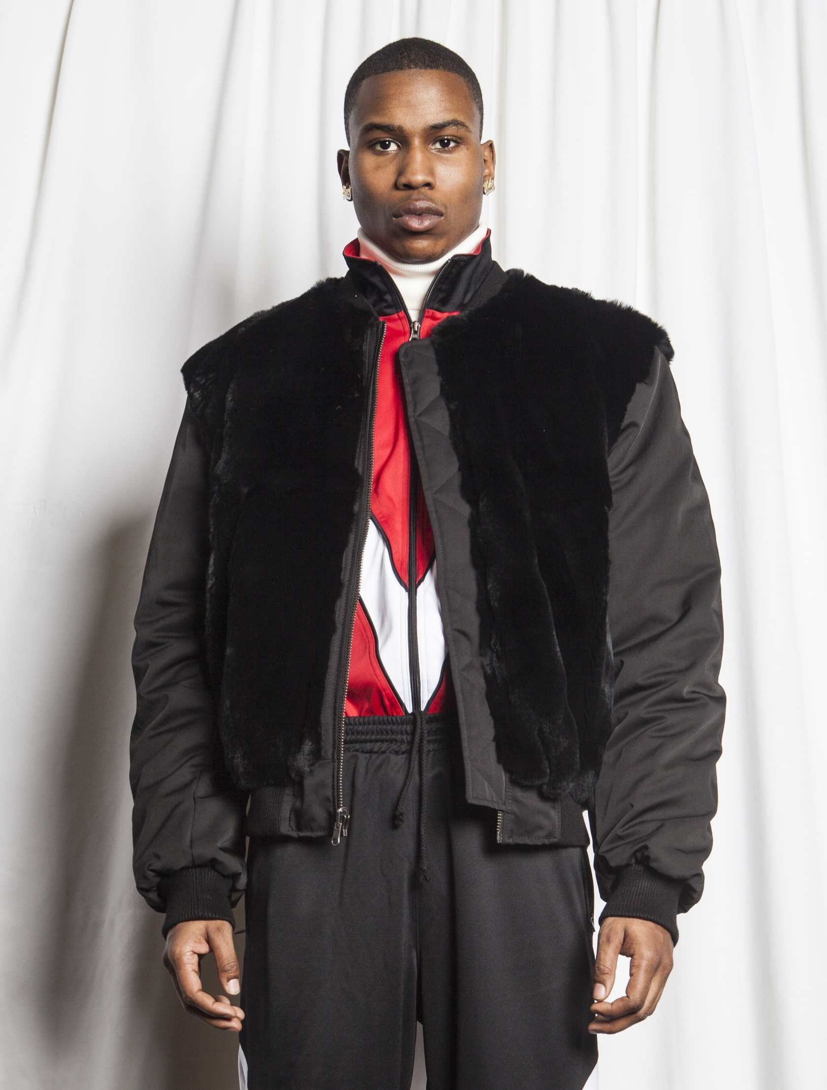 WILLY CHAVARRIA LOOK 3 WITH FUR