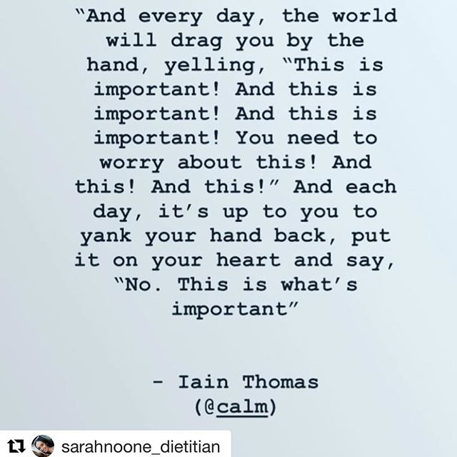 Love this! Looking after your own health mentally and physically should be high on the priority list everyday. The emails can wait! Repost @sarahnoone_dietitian with @get_repost ・・・ 🙌 #dietitian #health #wellness #rd #wellnessmonday #rd2b #takecareofyourself #youcantpourfromanemptycup #selfcare