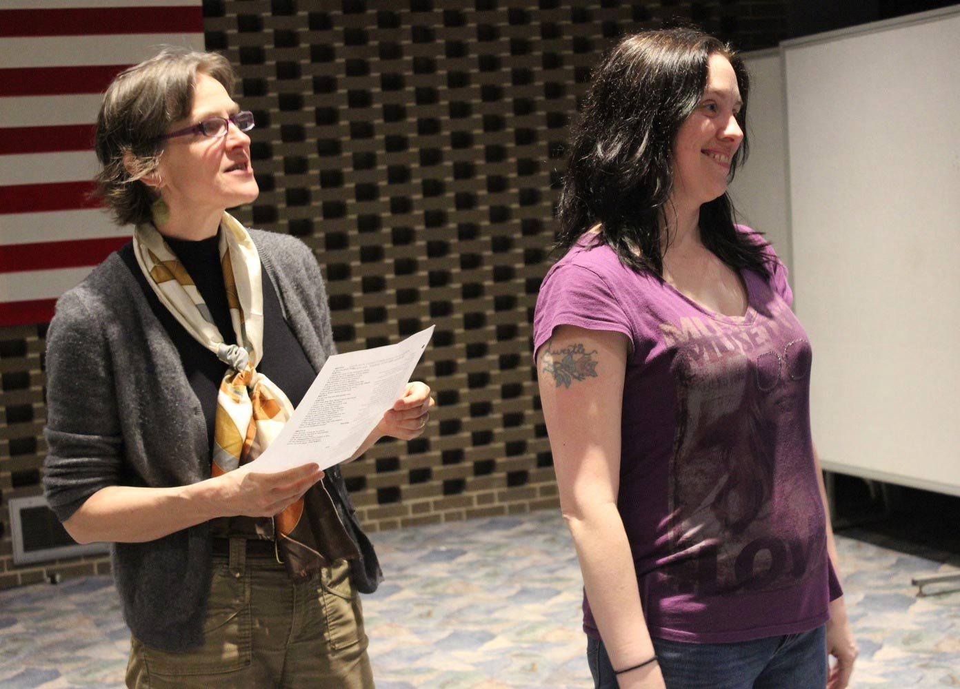 Carissa DePietro  (right) with Nancy Smith-Watson