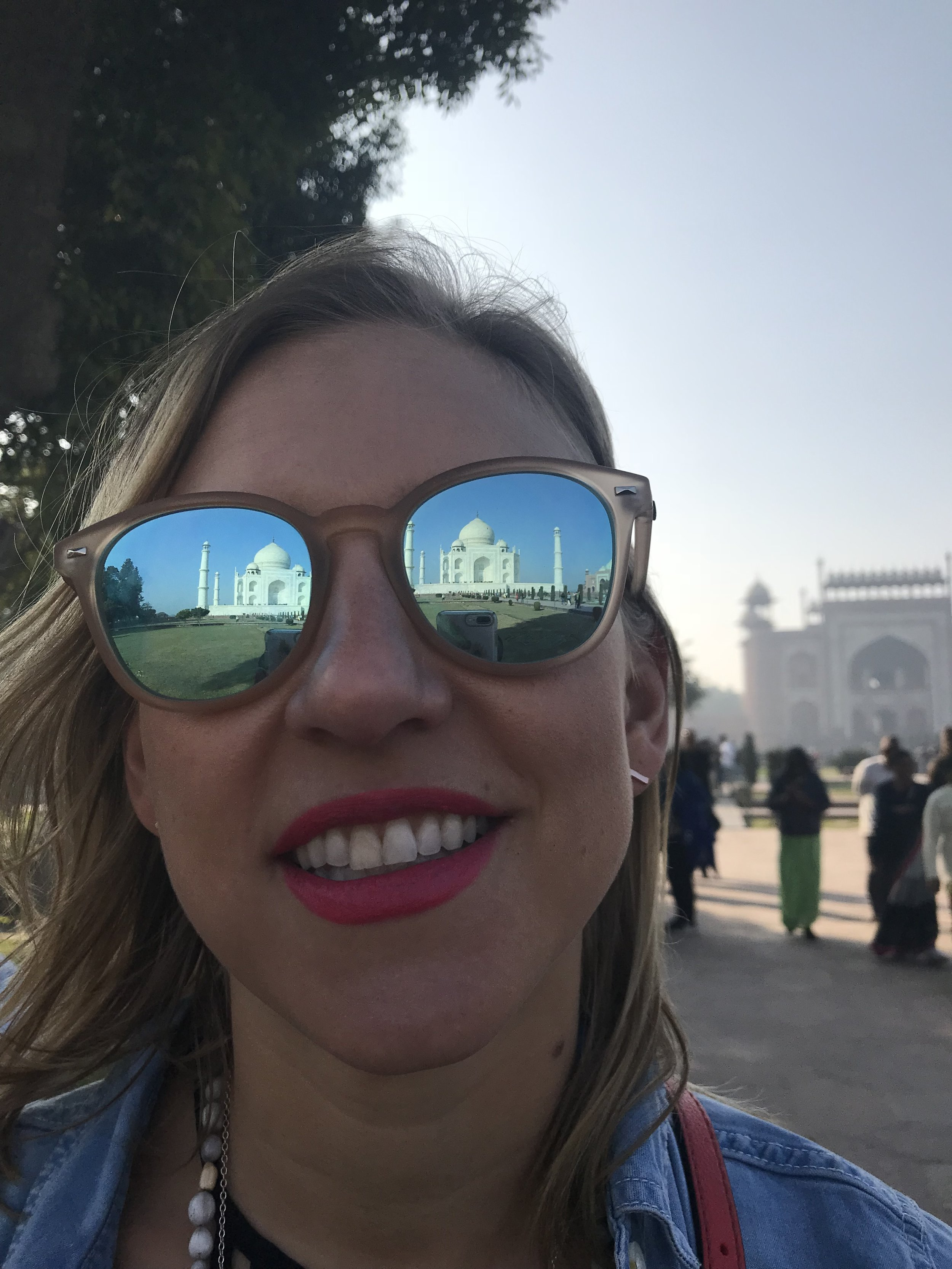 Got the Taj in my eyes - Thanks to our tour guide who fancied himself a photographer :)