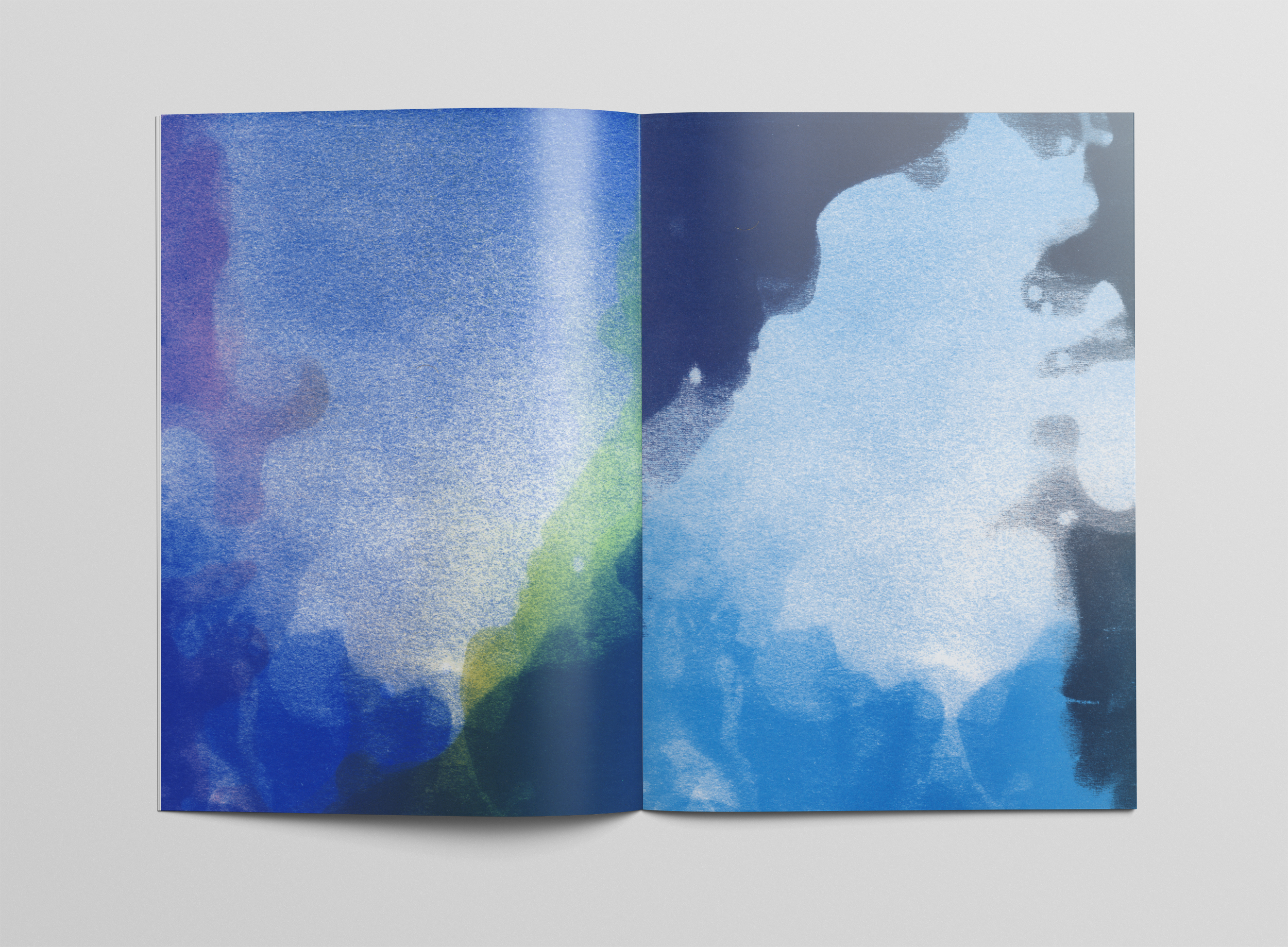 Artists's pages included in JAB 38 created as test sheets for  Inland Sea.