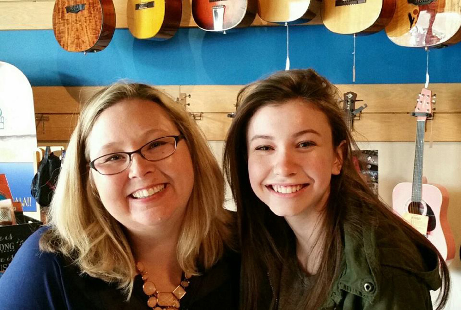 Actress and vocalist Katelyn Nacon, who plays Enid on  The Walking Dead , stops by Ponier Music Woodstock to see former teacher Camilla Sanders and preview some new songs.