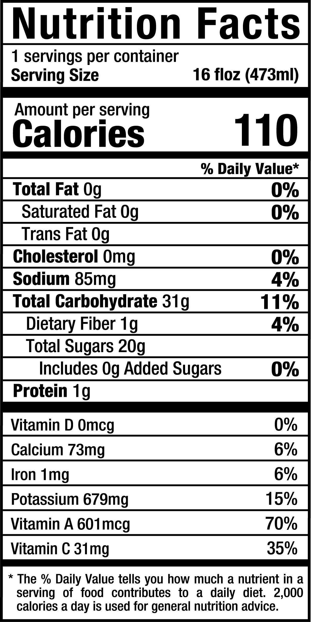 PureGreensALG_16oz_Nutrition Label.png