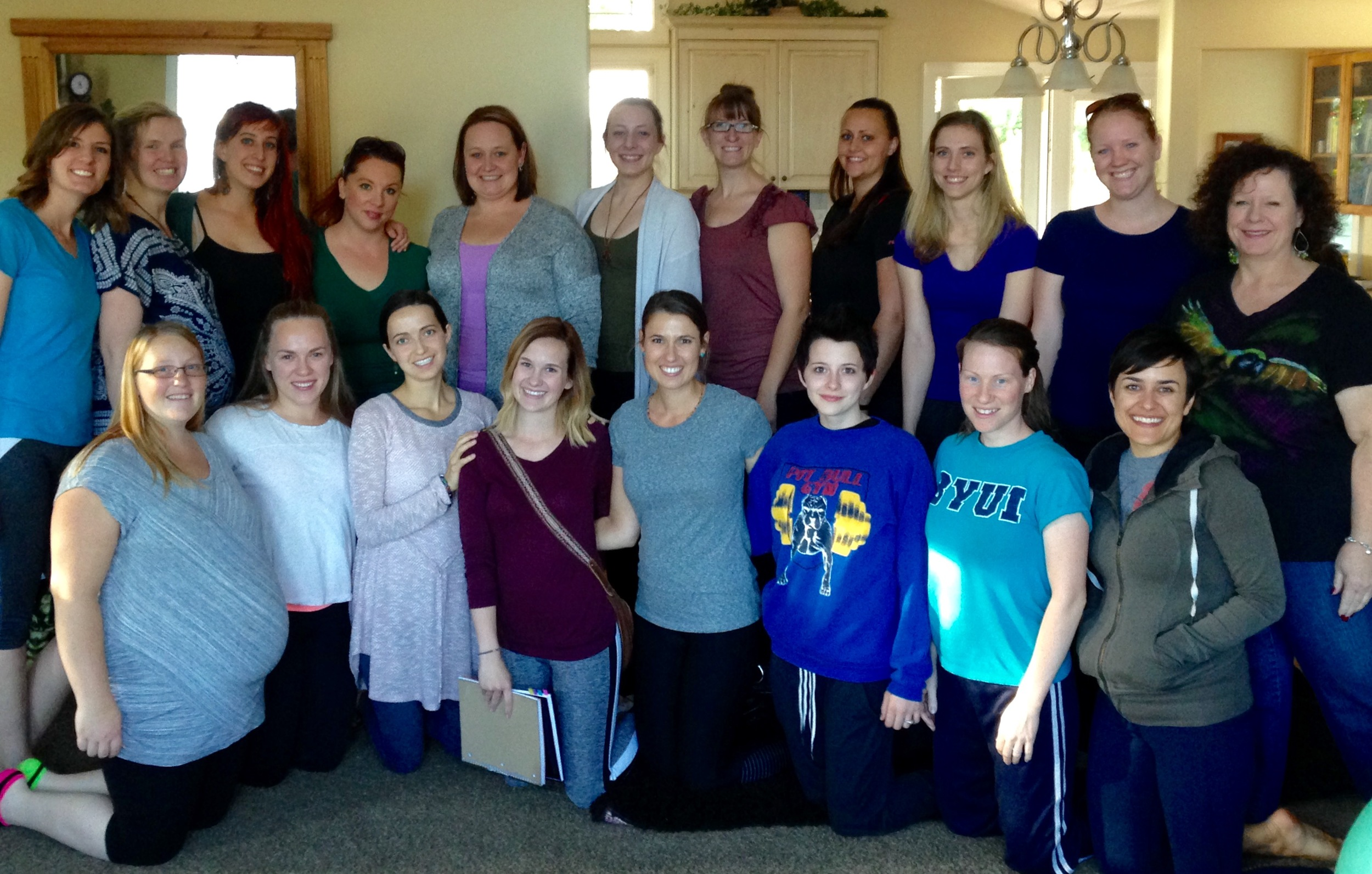 The amazing group of women who took the Curtis Method Hypnodoula training with me.
