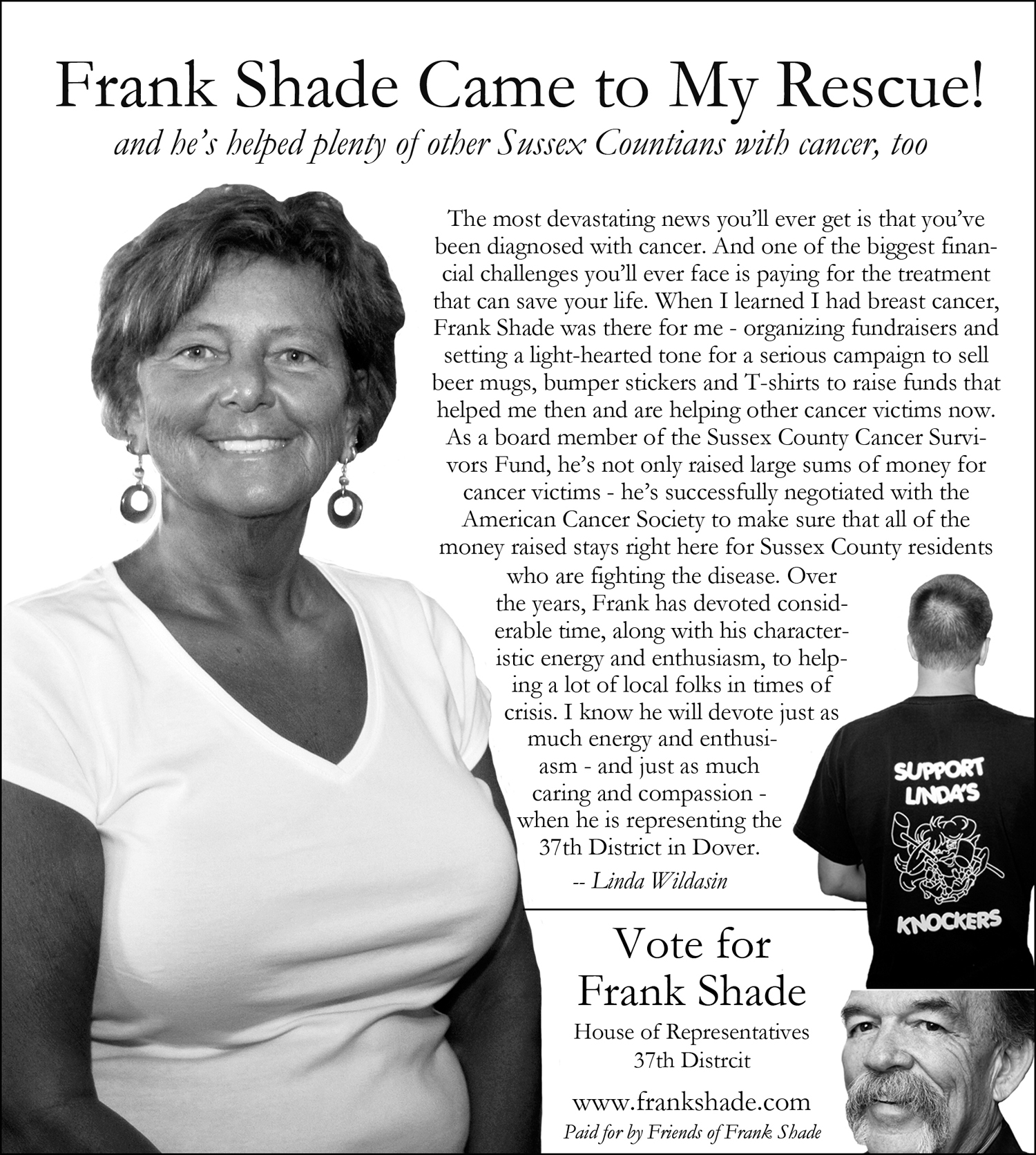 Frank Shade Political Ads
