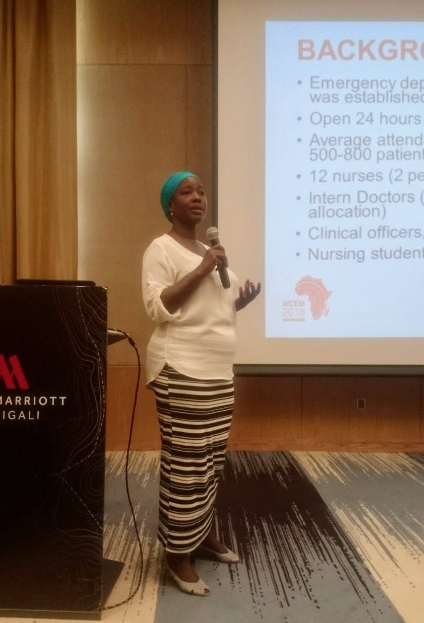Halima Adam at AfCEM 2018 -