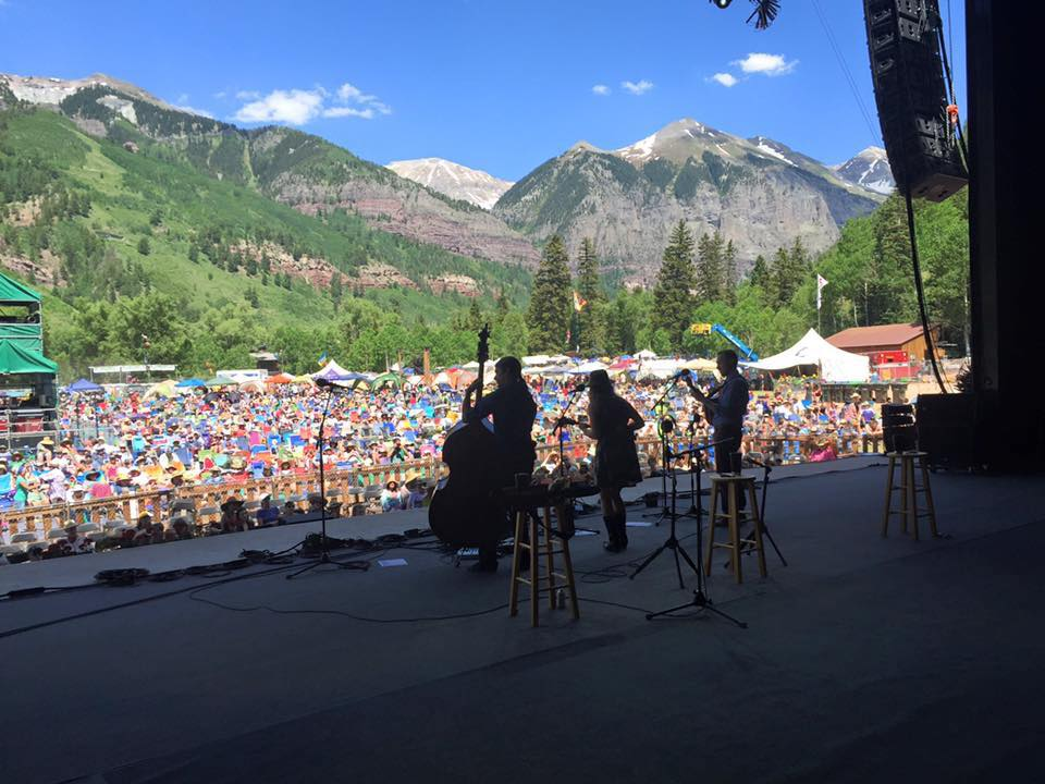 On stage at Telluride Bluegrass Festival