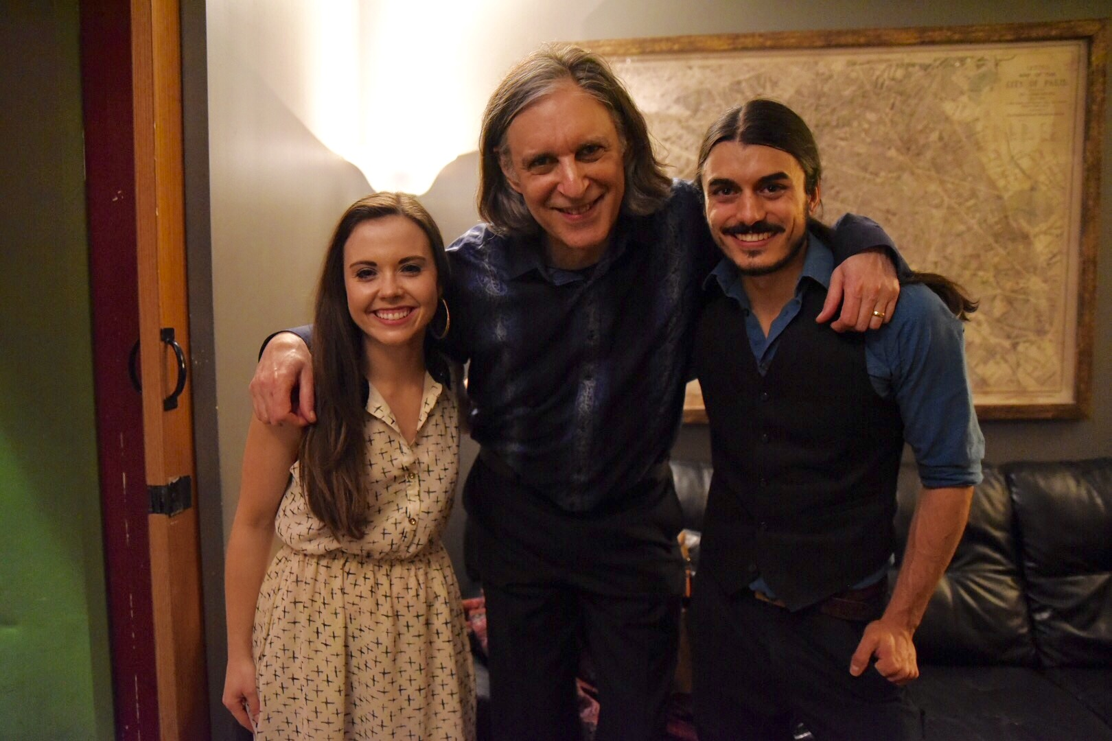 backstage with Howard Levy at City Winery Chicago