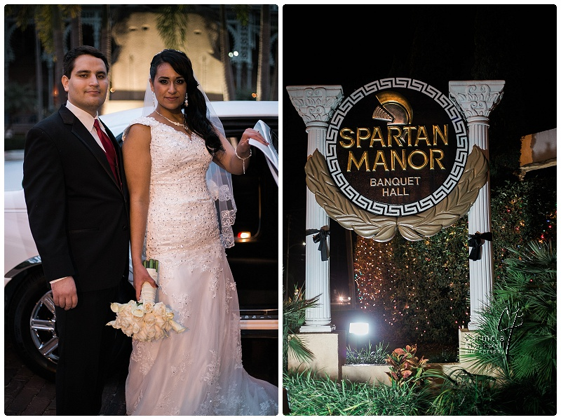 Spartan Manor in New Port Richey was still adorned with twinkling lights and Christmas colors for the newlyweds reception.