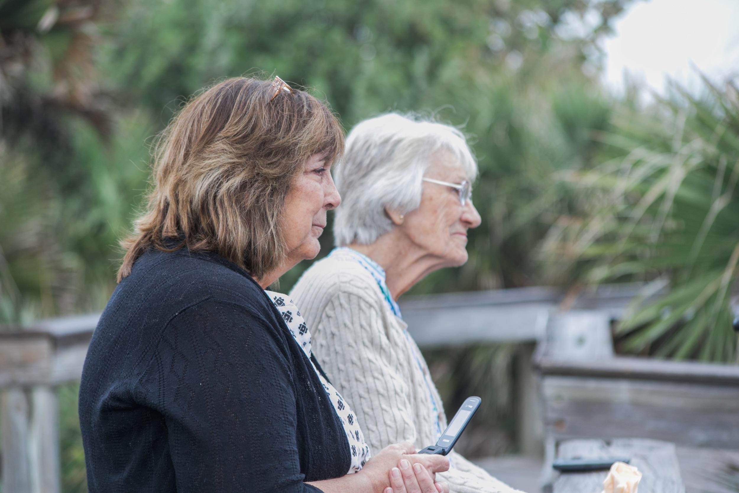 Mom and Grandma as their witnesses. Beautiful ladies.