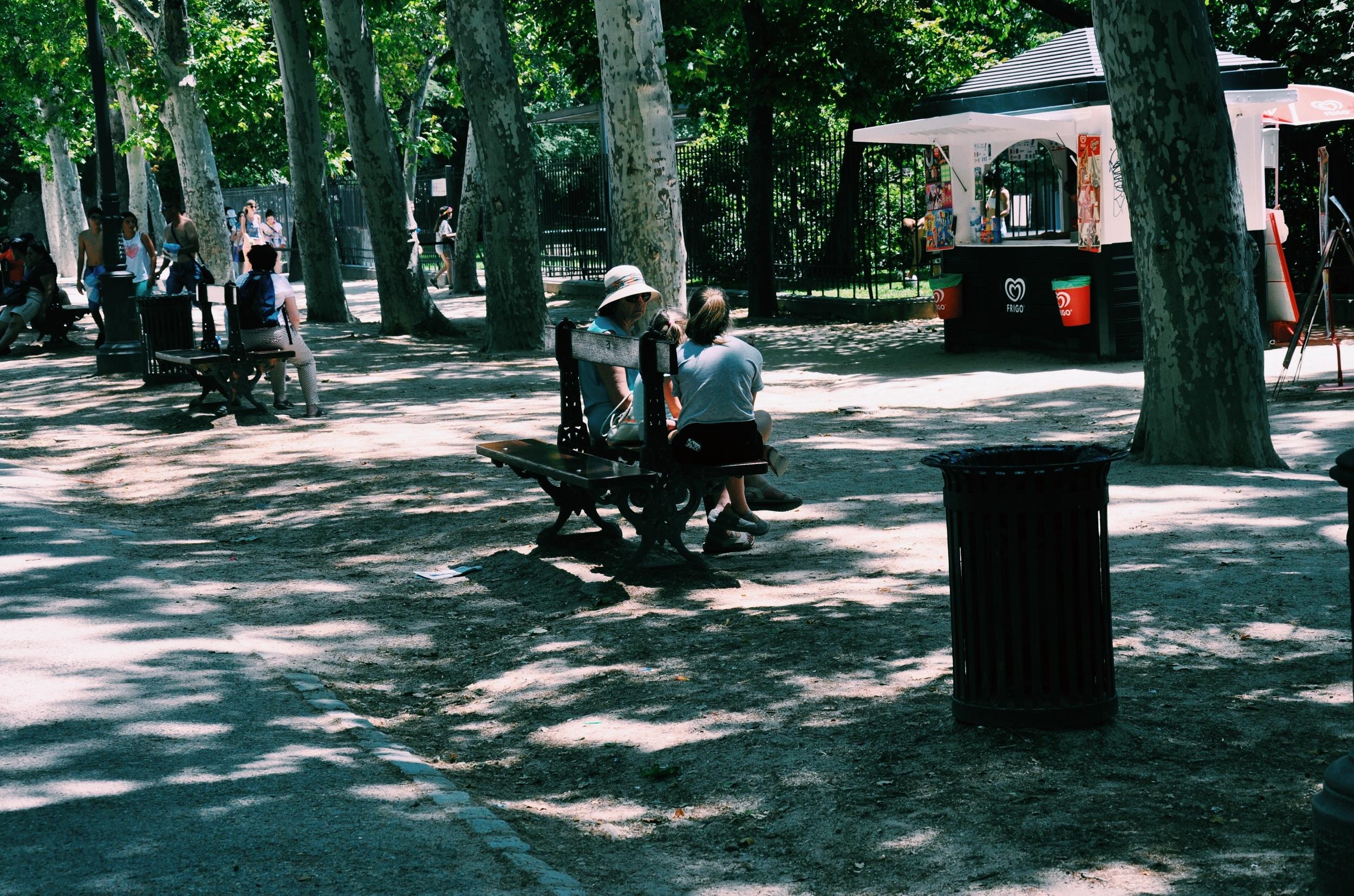Inside the park at Retiro.
