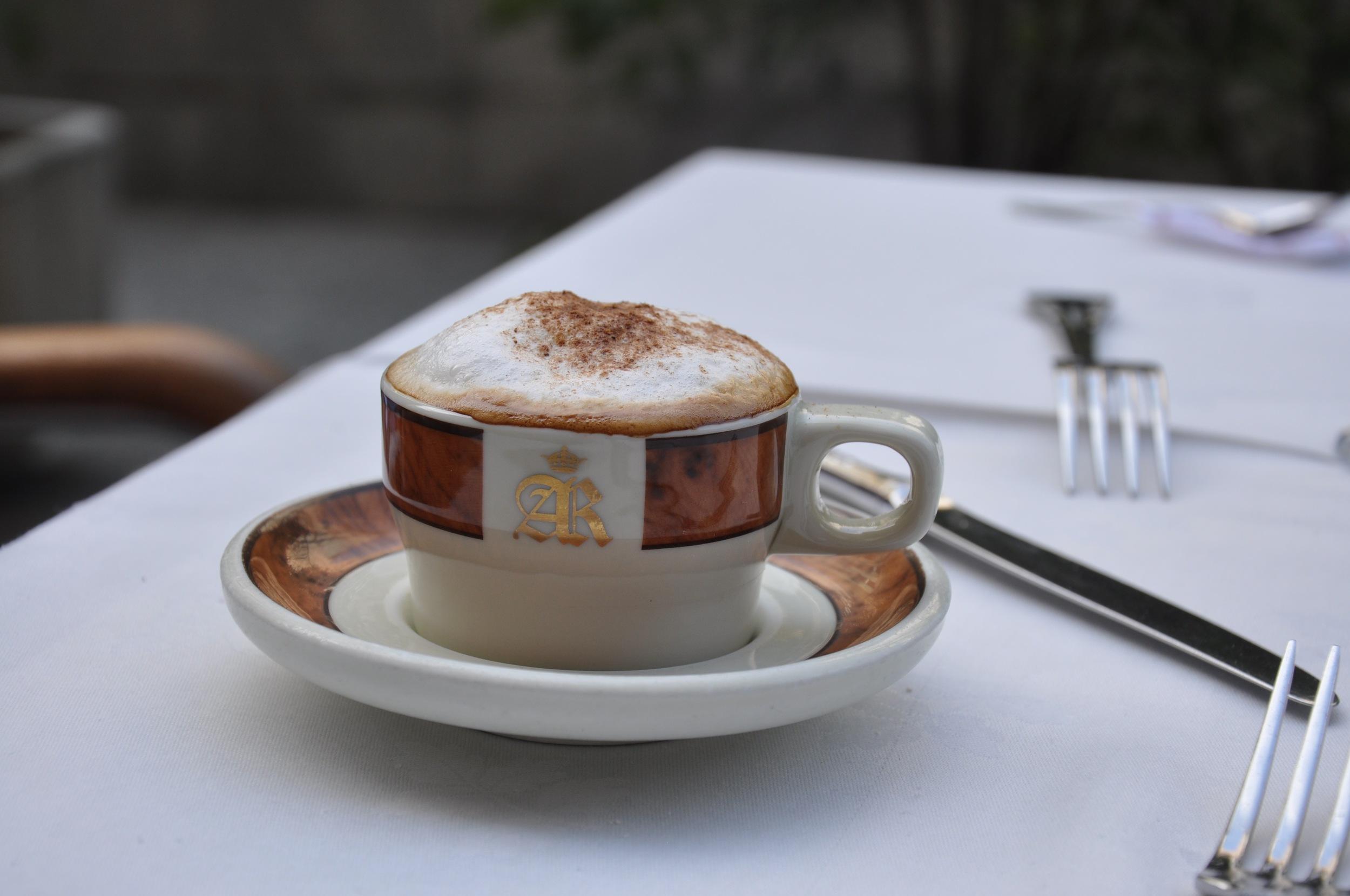 A traditonal cappuccino.