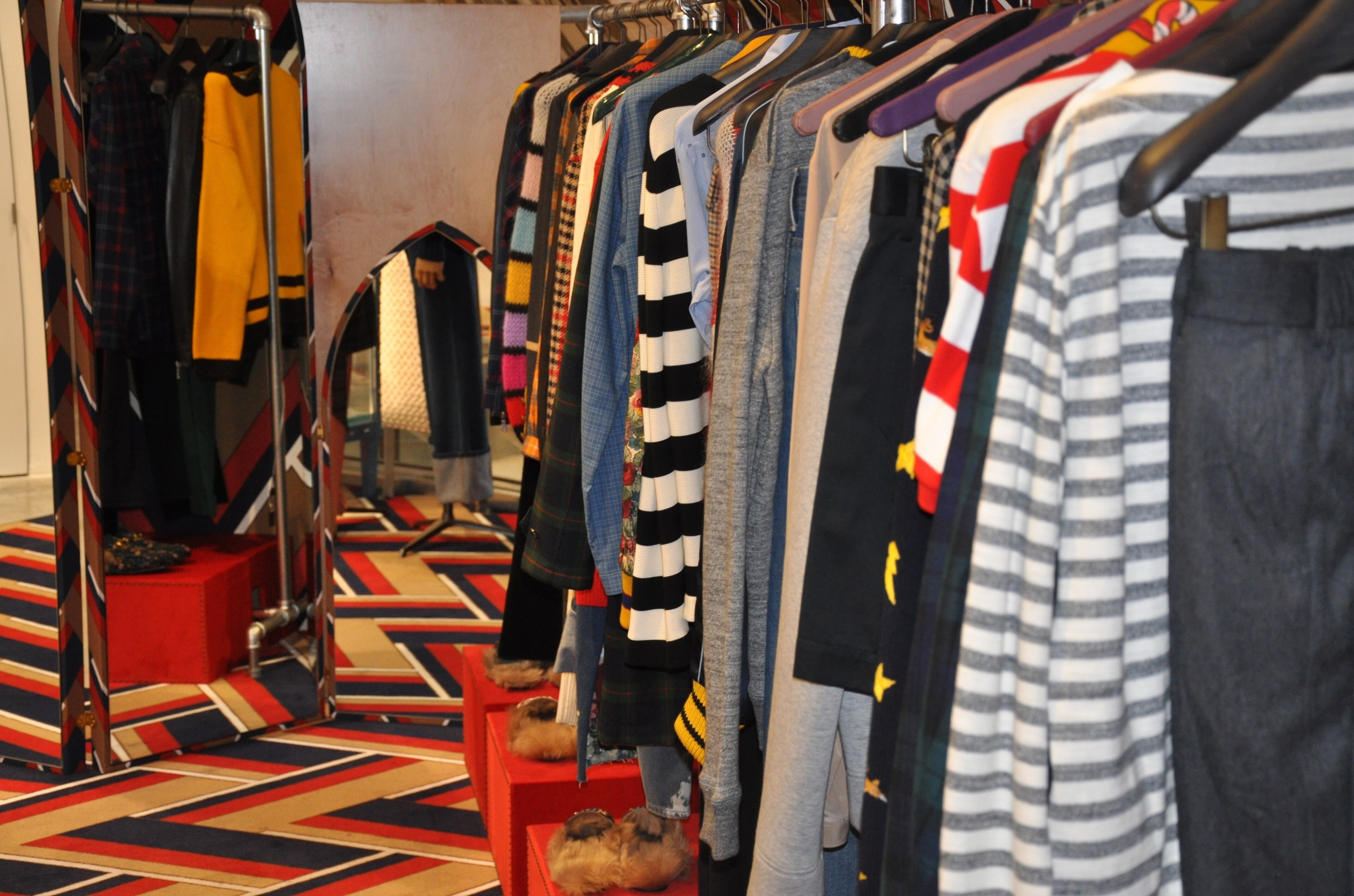 View of the men's collection.