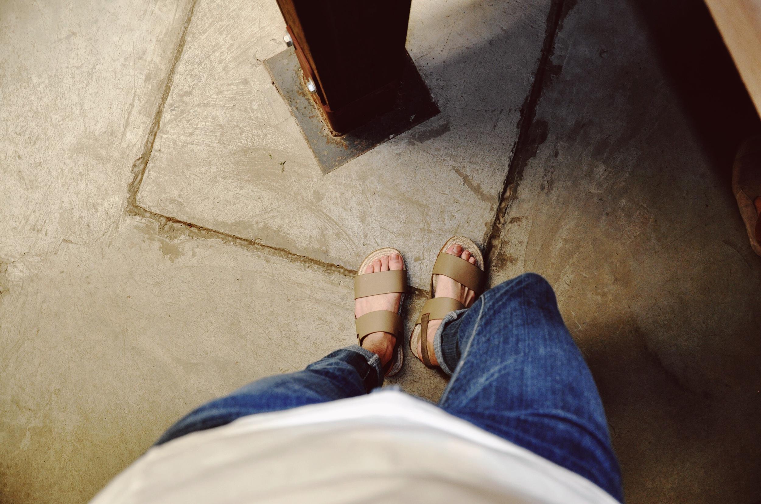 Neutral sandals from Zara.