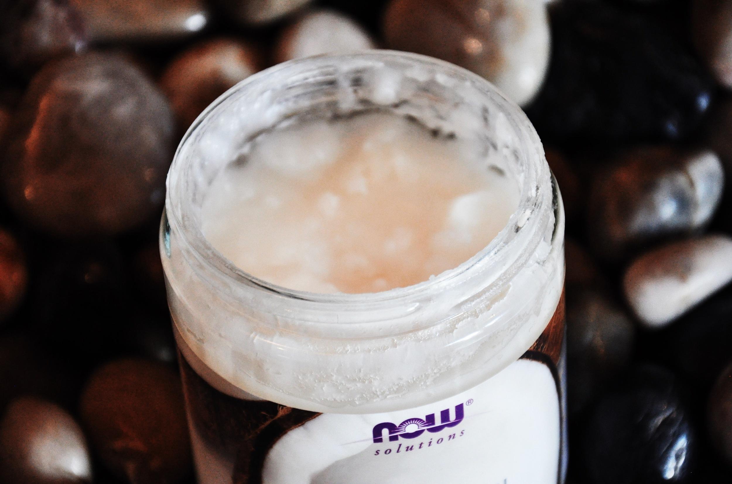 Coconut Oil Close-Up