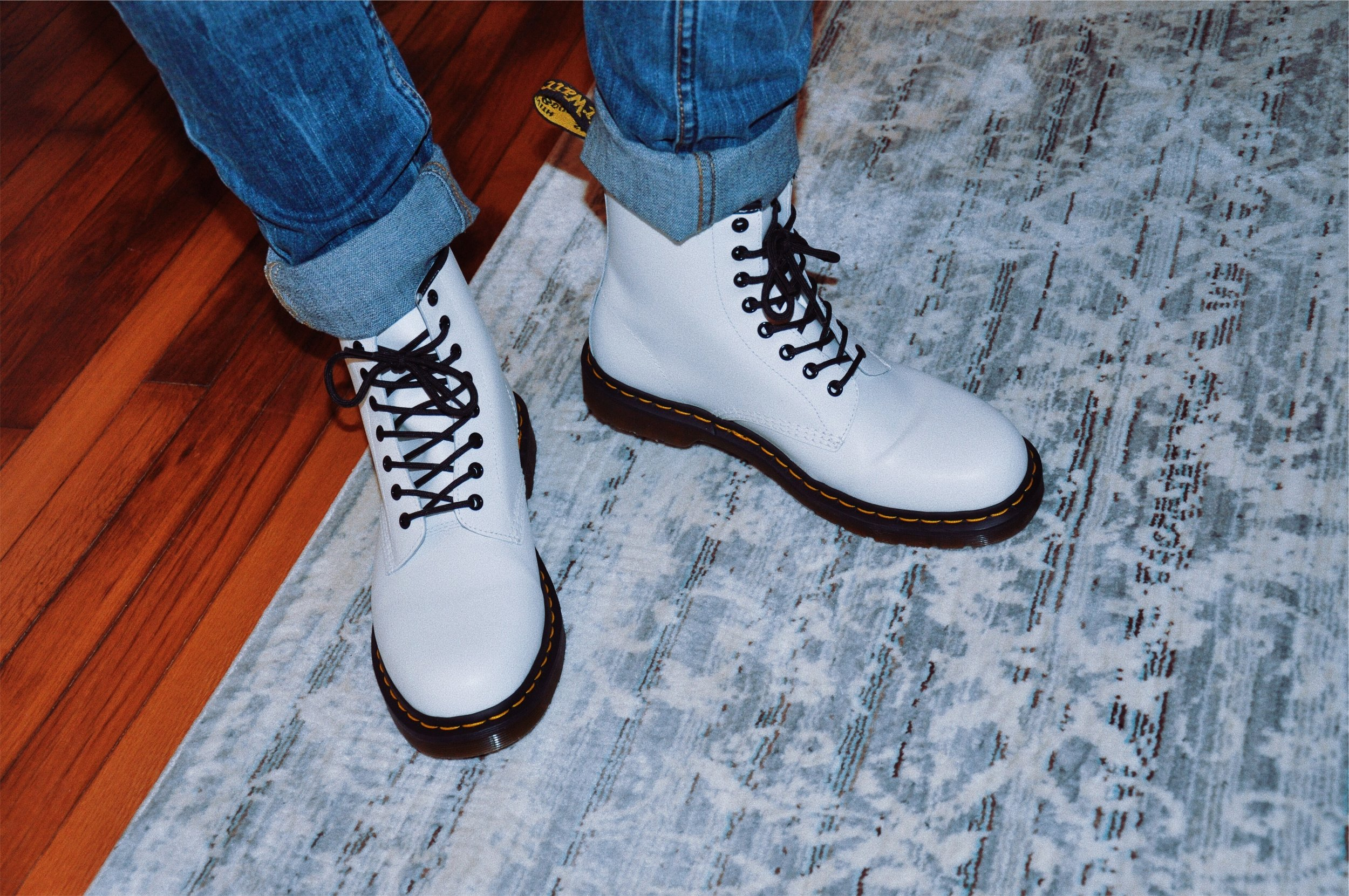 You can't go wrong with a pair of white Docs!