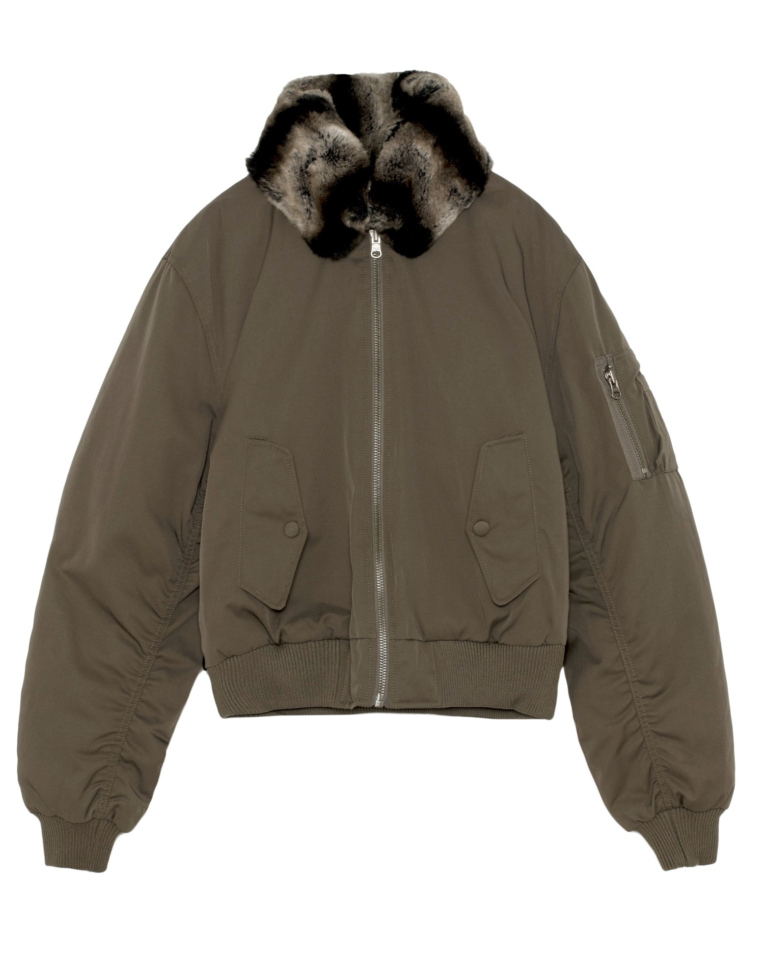 FUR COLLAR MA-1 BOMBER