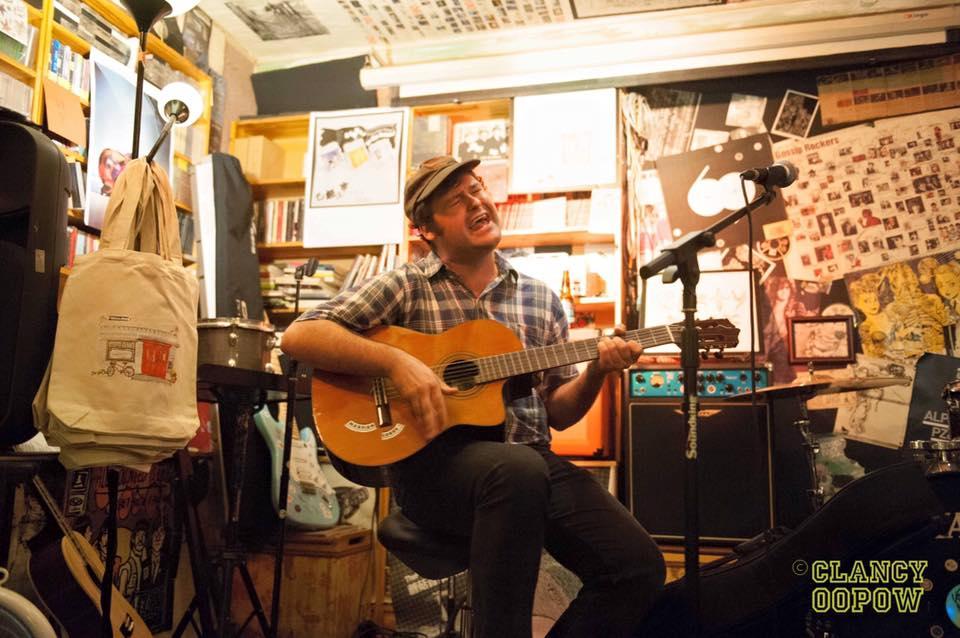 Nathan Borofkar playing at An Art Show, 69 Cafe