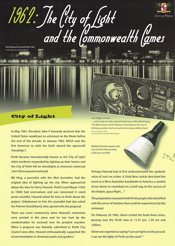 1962 : The City of Light and the Commonwealth Games   City of Perth, Jo Darbyshire