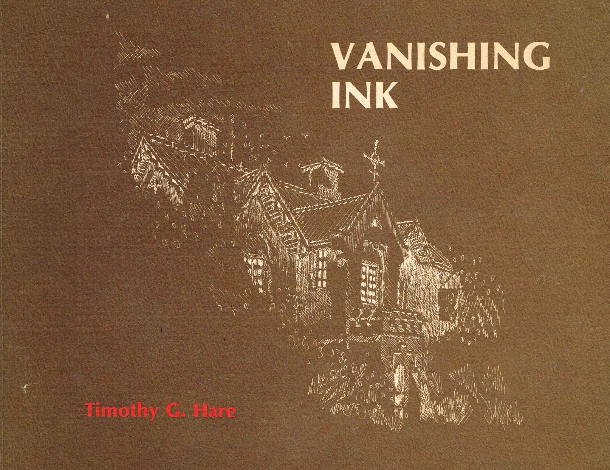 Vanishing Ink   Timothy G.Hare