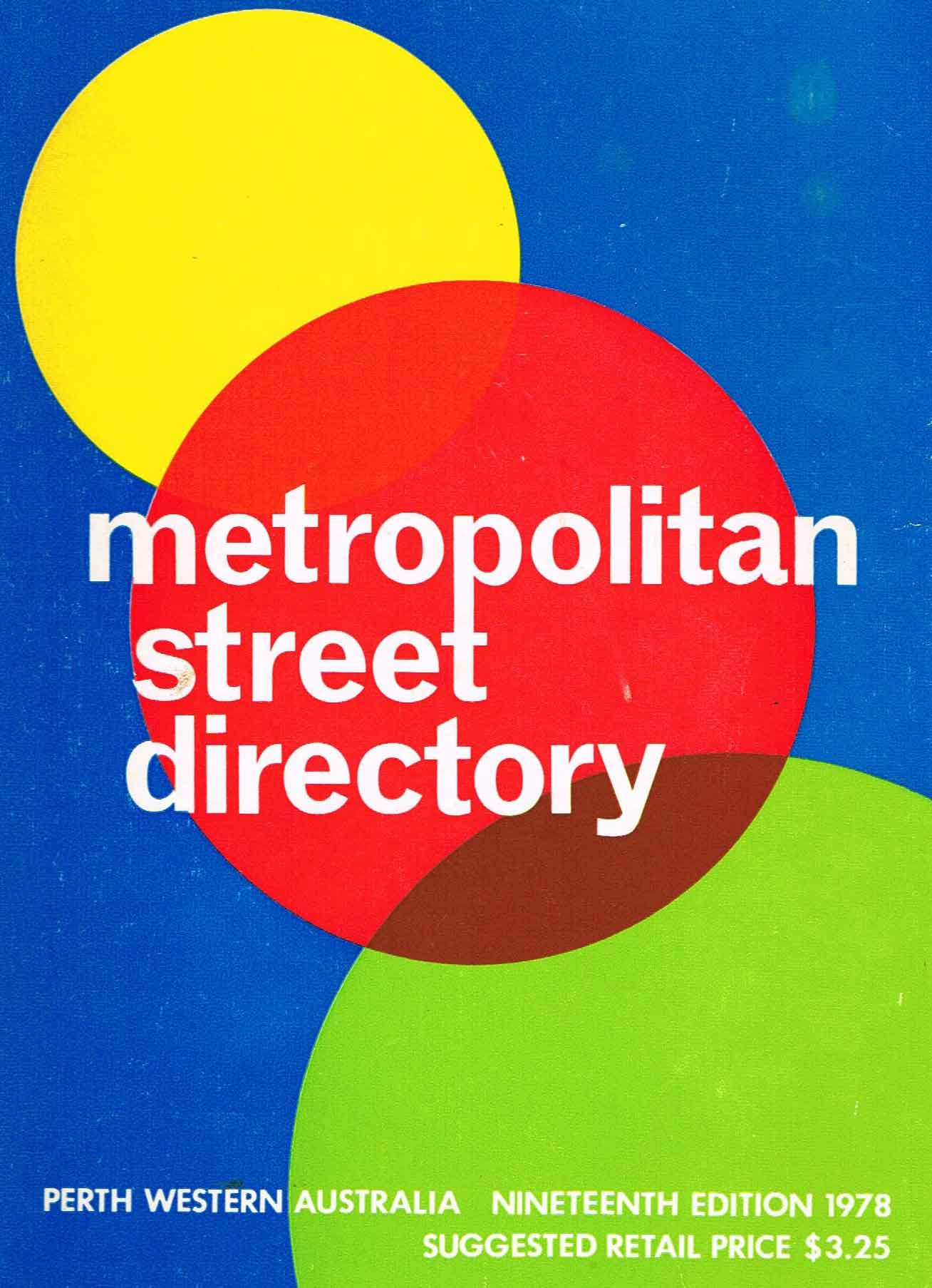 Perth-Metro-Street-Directory-19th-Edition-1978