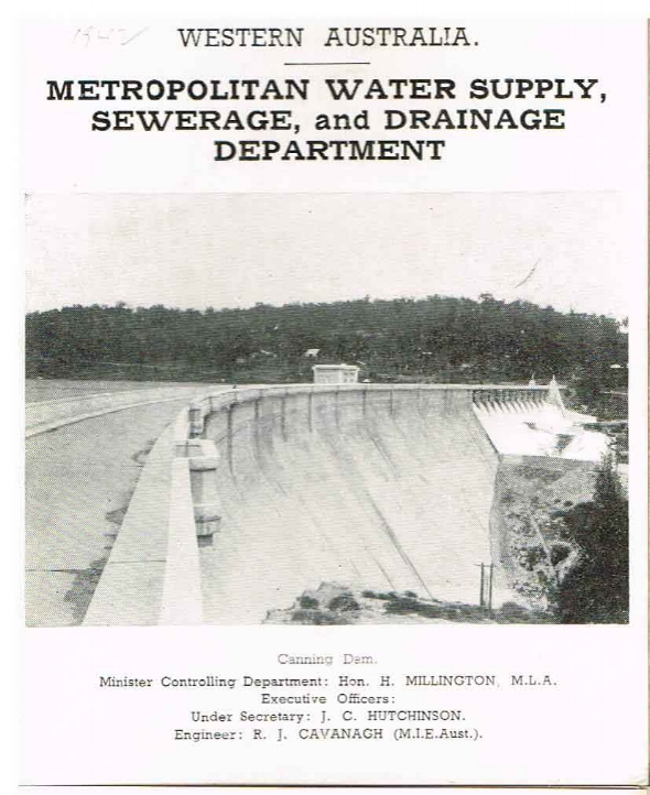 Metropolitan Water Supply, Sewerage and Drainage Department (series)  Perth Water