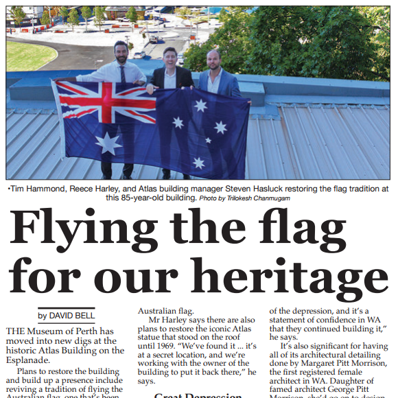 """""""Flying The Flag For Our Heritage"""" - Perth Voice, 27th Jan 2017"""