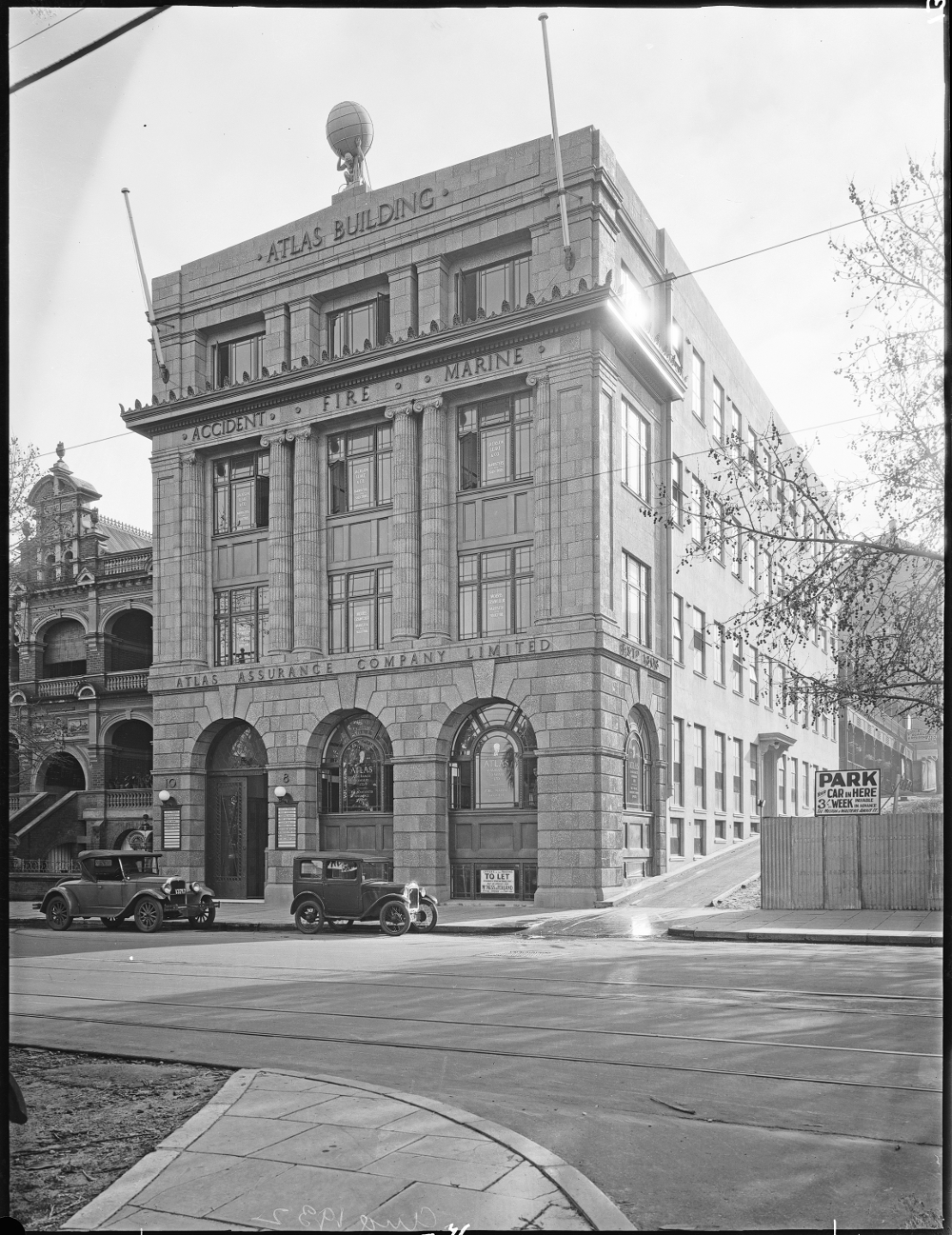 August 1932 Atlas Building State Library of Western Australia Image: SLWA 095428PD